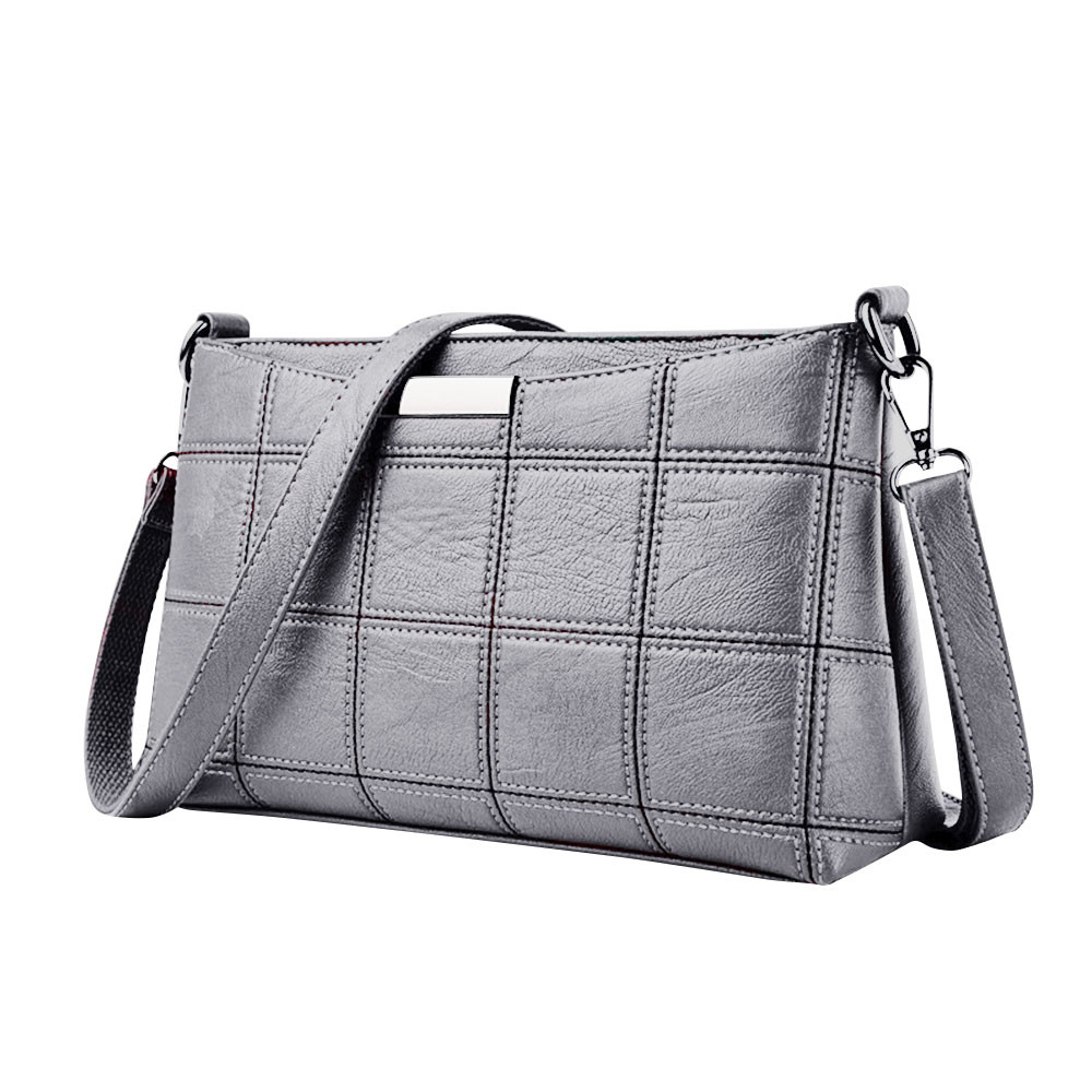 Women Handbag Casual Tassel Handbags Female Designer Bag Leather Plaid Messenger Bag Shoulder Small Square Package