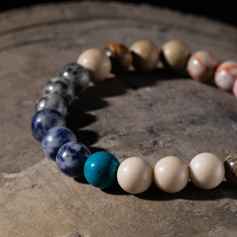 """אופנה 8 מ""""מ ו -10 מ""""מ חרוזים אבנים טבעיות סטרנד צמידי צמידי תכשיטי גברים סיטונאי מתנות צמיד חרוזים יוגה"""