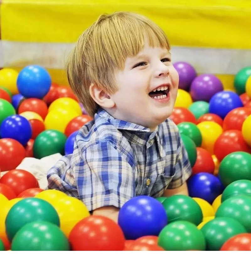 100pcs Baby Toys Colors Plastic Ball Eco-Friendly Ocean Balls For Kids 5.5cm Water Pool Swim Pit Play House Outdoors Tents Toy