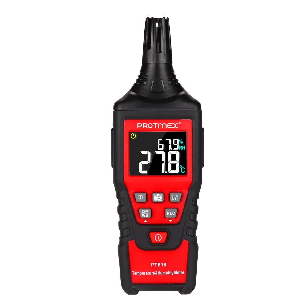 Цифровой измеритель температуры и влажности PT618 гигрометр термометр влажная лампа/точка росы измеритель температуры метеостанция