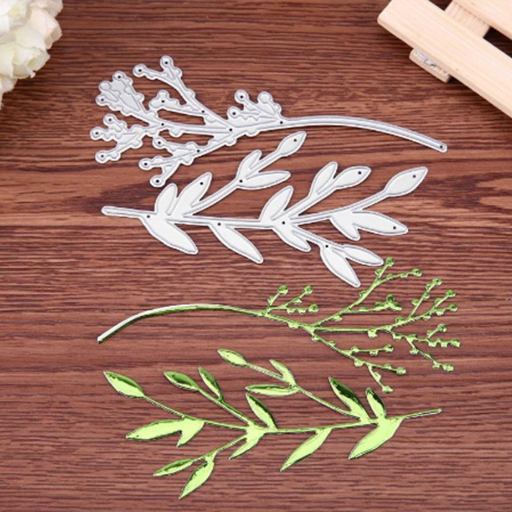 2 Blade Grass Carbon Steel Cutting Die Home Decoration Hand Made DIY Gifts For Children