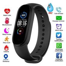 M5 banda esporte inteligente rastreador de fitness pedômetro bluetooth smartband pulseira hr pedômetros equipamentos fitness