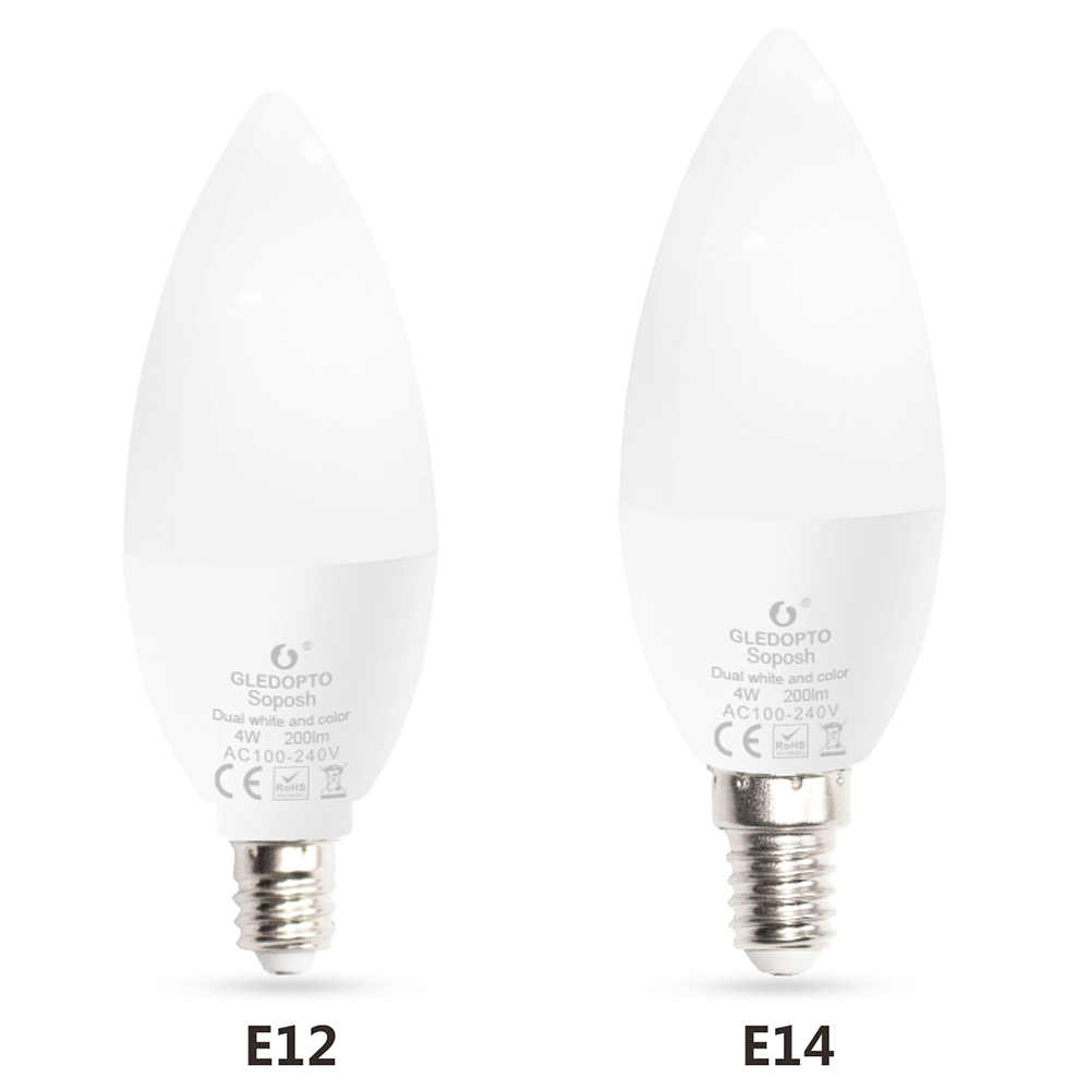 Zigbee LED ampoule intelligente E14 E12 4W Dimmable RGBCCT bougie ampoules 220V 110V 230V AC Compatible avec Amazon Echo Plus