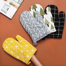 1 pair(2 pcs) Cotton Oven Glove Heatproof Mitten Kitchen Cooking Microwave Mitt Insulated Non-slip Thickening