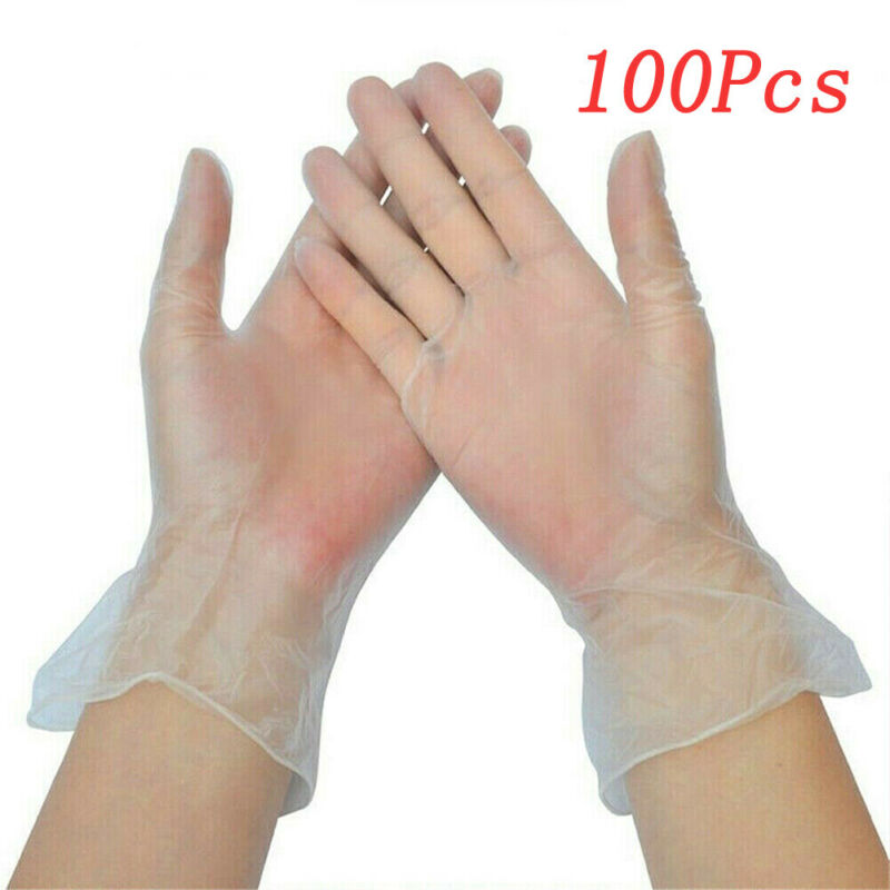 100X Fast Shipping Disposable Latex Gloves Powered Nitrile Examination Gloves Medical Surgical Cleaning Gloves S/M/L