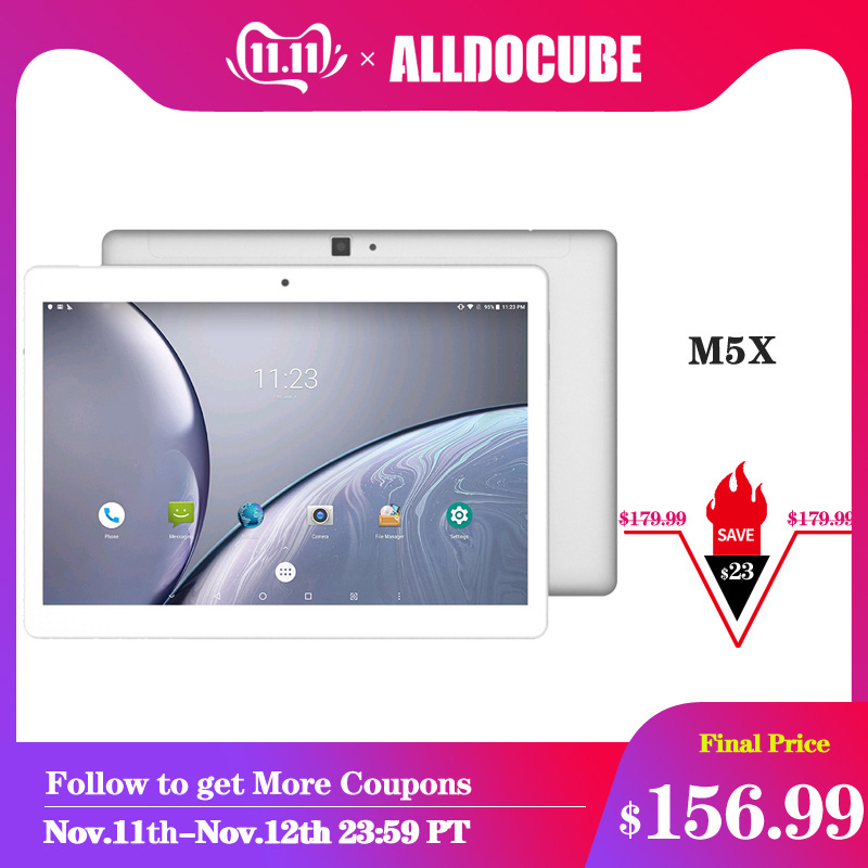 Alldocube m5x 10.1 Polegada android 8.0 tablet pc mtk x27 2560*1600 ips deca núcleo 4g comprimidos de chamada de telefone 4 gb ram 64 gb rom wifi duplo