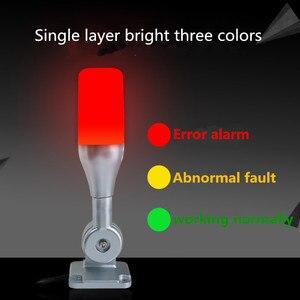 Image 3 - 10 unids/lote lámpara de advertencia Led de una capa Tricolor 24V alarma torre de señal Luz de precaución para máquinas CNC Indicador de luz de seguridad de fallo