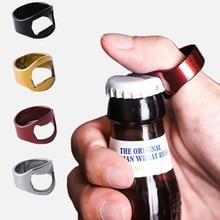 цена на 4 Color Multi-function Stainless Steel Colorful Ring Opener Beer Bottle Opener Diameter 22mm Mini Creative Ring Bottle Opener