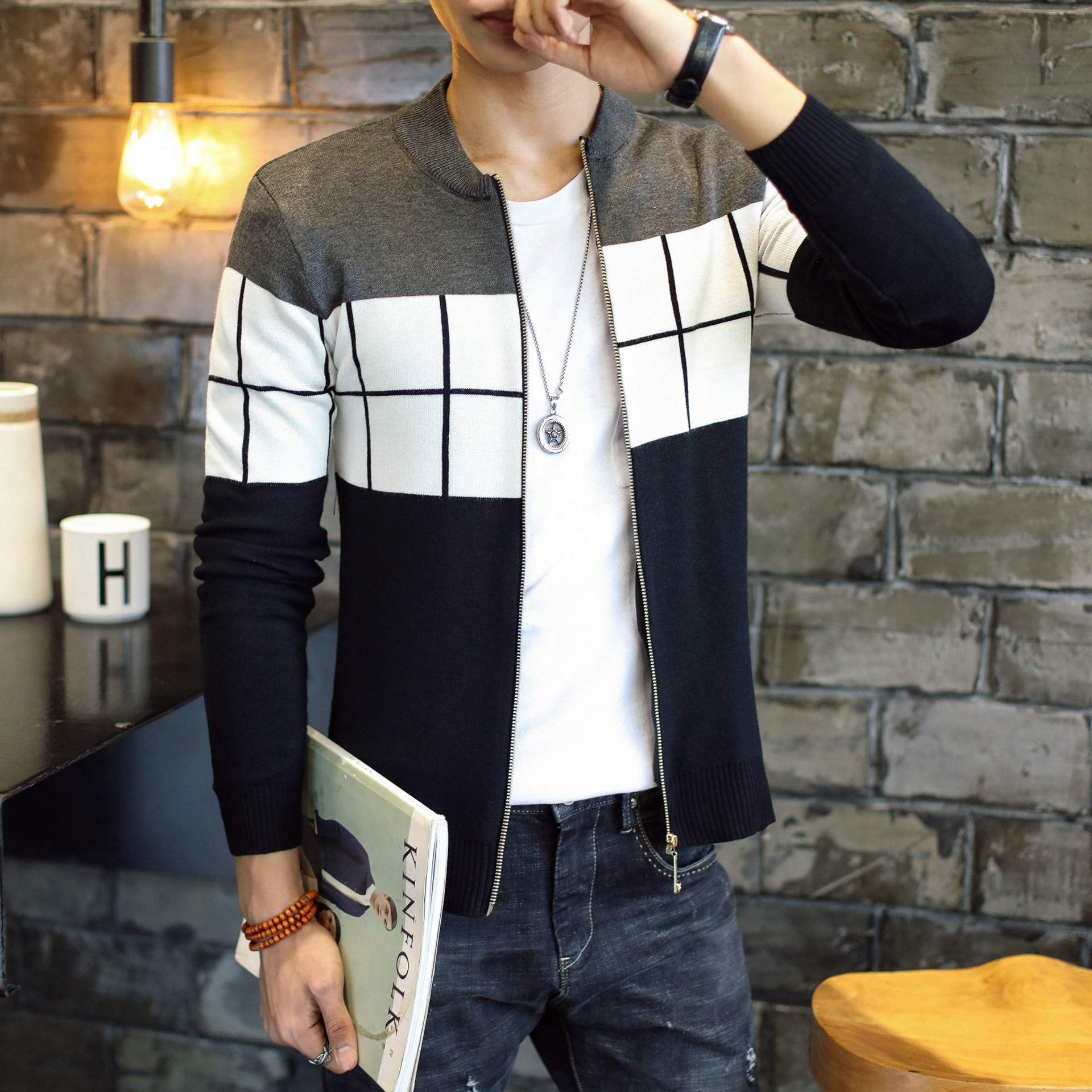 Free Shipping Knitted Cardigan Men Brand Clothing 2017 Cheap Wholesale Autumn Winter Hot Sale Fashion Warm Christmas Sweaters
