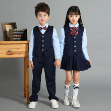 Kindergarten uniform primary school uniforms British style children's college wind school uniform three-piece suit