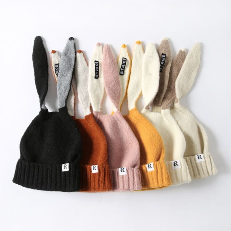 2019 Kids Girl&Boy Baby Winter Warm Knitted Cute Rabbit Long Ear   Beanie   Hat 2019 Autumn Hats Cap