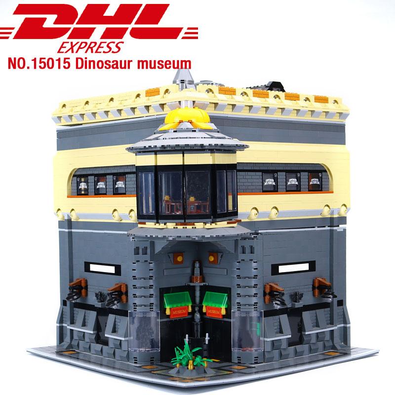 DHL 15015 5003Pcs Via Della Città di Strada Il Dinosauro Del Museo di Modello Kit di Costruzione di Blocchi di giocattoli educativi per I Bambini regali Di Compleanno-in Blocchi da Giocattoli e hobby su  Gruppo 2