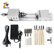 12 24vミニ旋盤工作機械旋盤標準セットdiy木工仏真珠研削研磨ミニビーズ機