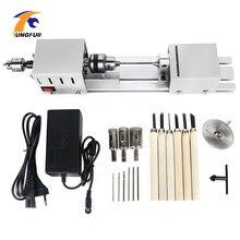 12 24v mini torno máquina ferramentas torno padrão conjunto diy carpintaria buda pérola moagem polimento mini grânulos máquina