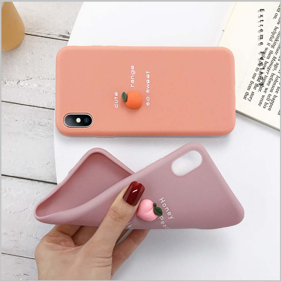3D Candy Color Soft Phone Case for iPhone gift for girlfriend