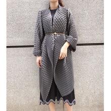 3D Pleated Long Windbreaker Cape for Autumn 2019 Oversized Women Coats Trench Co