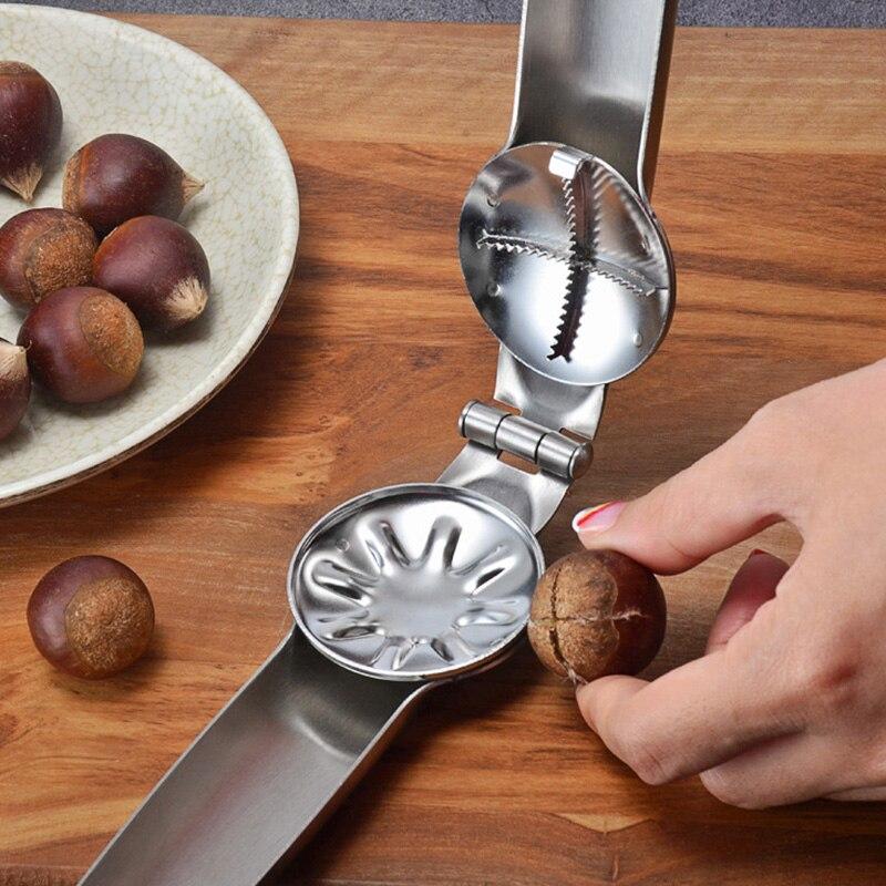 Chestnut Clip Nut Cracker Walnut Pliers Metal Nut Opener Plier Stainless Steel Kitchen Tools GQ999