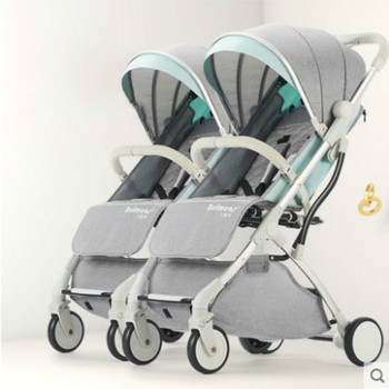 3 in 1 Twins Baby Stroller Can Sit Lie-Split Lightweight Stroller Portable Folding Baby Infant Cart Four Wheels Carrage 0-3 Year