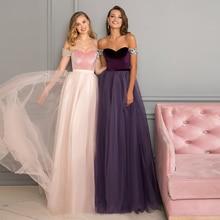 цена на Verngo Contrast Color Evening Dress Fashion  A-line Evening Gown  Velvet Formal Dress Long Dress Party Abiye Gece Elbisesi