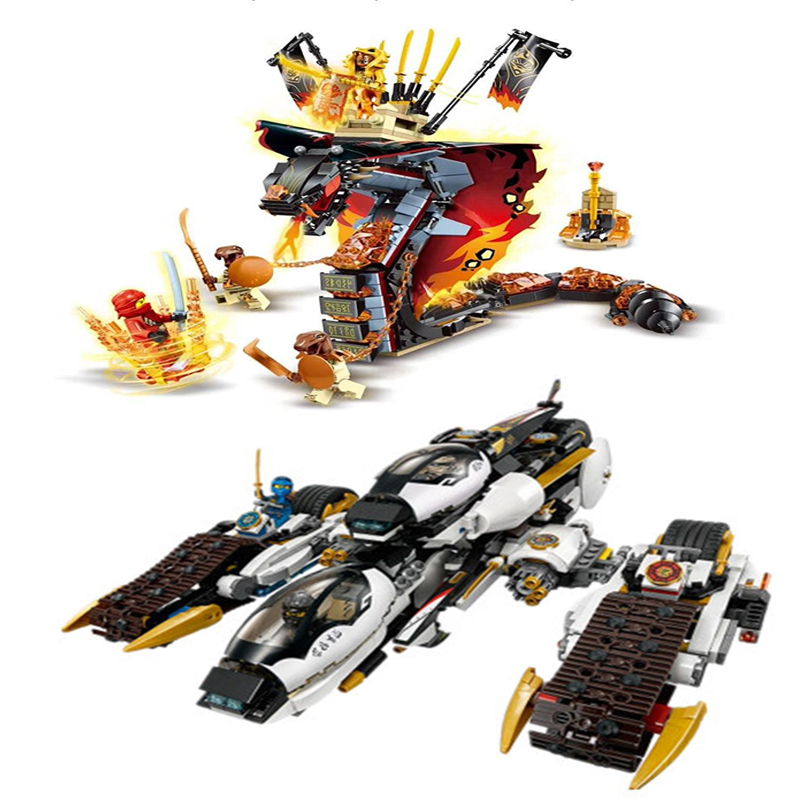 Technic 2020 Ninja Fire Fang Spinjitzu Building Blocks Kit Bricks Classic Movie Ninja Model 70674 Kids Toys For Children 1