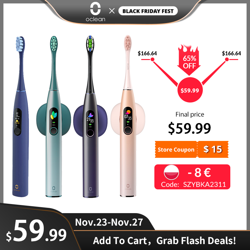 Electric Toothbrush Sonic Fast-Charge Global-Version Automatic Oclean-X-Pro Adult IPX7