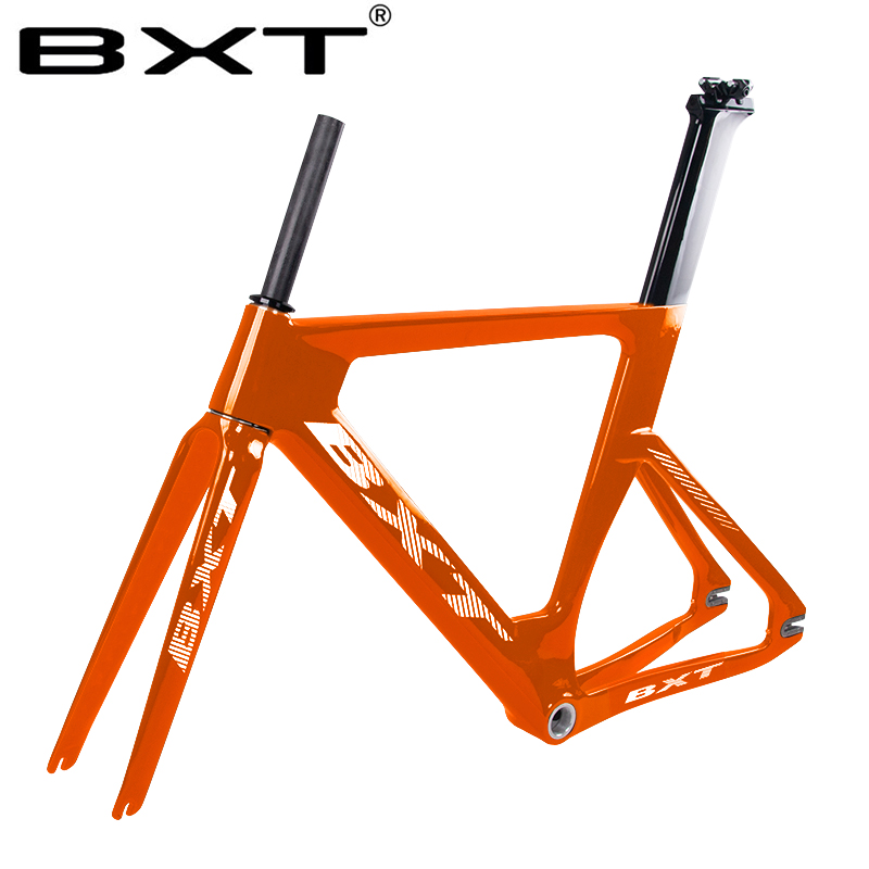 New Full Carbon Track Frame Carbon 700C Track Bike Bicycle Frameset With Fork Seatpost Carbon Fixed Gear BSA Track Bicycle Frame