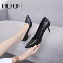 Туфли лодочки niufuni женские пикантная обувь на шпильке заостренный