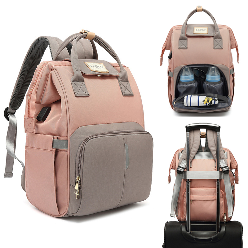 USB Waterproof Diaper Bag For Mommy Maternity Nappy Backpack Infant Baby Organizer Nursing Changing Mother Maternal Bag To Care
