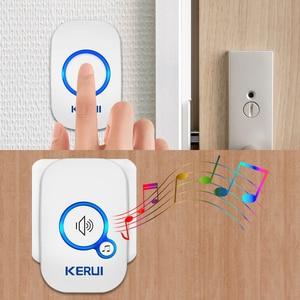 Image 4 - KERUI 무선 스마트 초인종 홈 보안 알람 Welcome Doorbell LED Light 32 방수 버튼이있는 노래 쉬운 설치