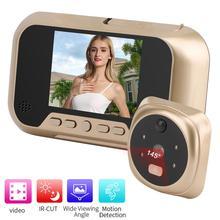 3 인치 LCD 컬러 스크린 디지털 초인종 사진 비디오 720P 전자 도어 아이 현관의 구멍 145 학위 야외 도어 벨