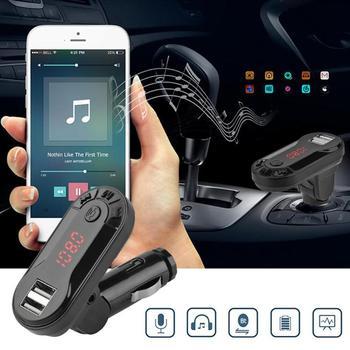 I9 Bluetooth Car Kit FM Transmitter TF Card U Disk Handsfree Wireless Car Kit MP3 Music Player USB Charger Support  New 1