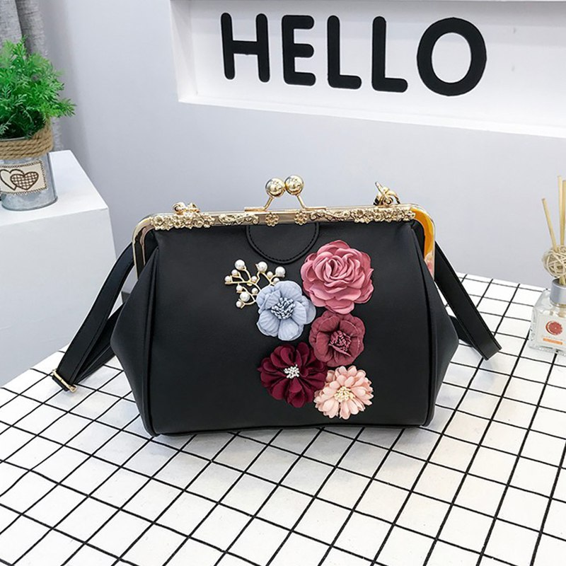 Women Girls New Personality Fashion Casual Messenger Bag Follower Decoration Clip Bag Cute Shoulder Bag Handbag New