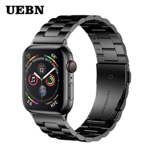 UEBN Classic Metal Stainless Steel Band for Apple watch Series 4 3 2 1 Watchband Strap for iWatch 40mm 44mm 42mm 38mm strap цена