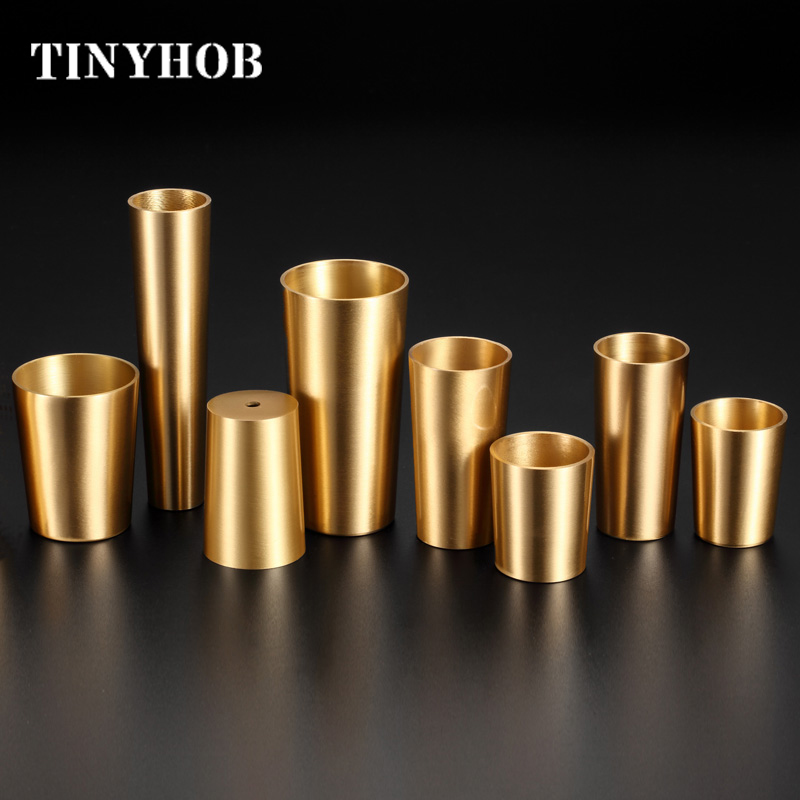 Brass Sofa Feet Cover Cabinet Leg Covers Chair Cups Tube Protector Table Feet Cover Furniture Feet 26mm - 36mm Upper Diameter