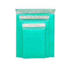 2 Pcs Bubble mailing green color polyfoam bubble office packaging envelope moisture-proof vibration bag for book and magazine