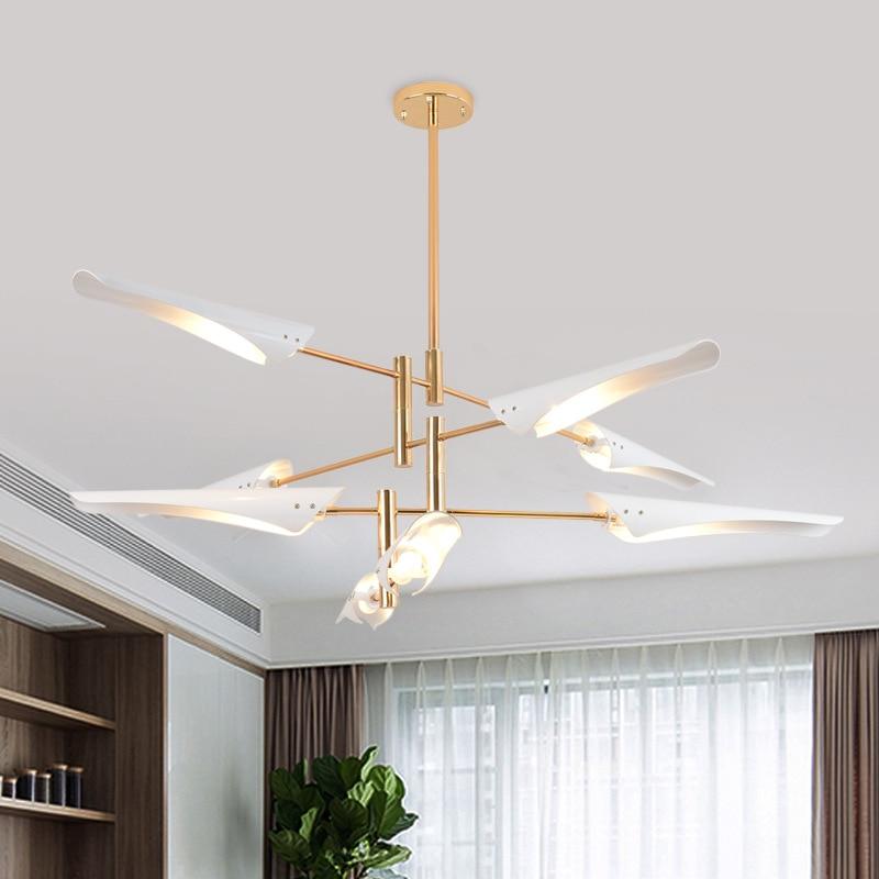 Postmodern creative chandelier industrial style simple restaurant lamp LOFT Nordic study designer bedroom LED Lighting
