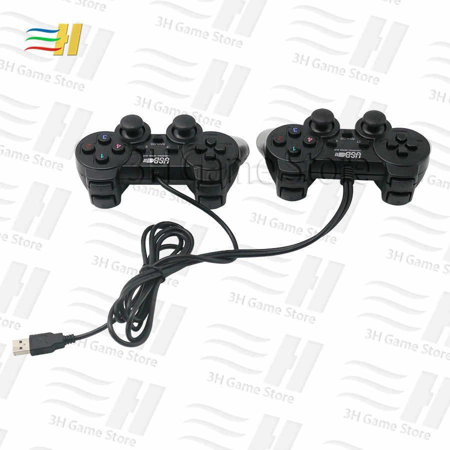 USB kablolu gamepad kablosuz gamepad 2 oyuncu için joypad Pandora kutusu 9d arcade versiyonu aile sürümü ve konsol bartop 3P 4P