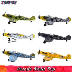 Aircraft Model Kits Toys for Children DIY Camouflage Fighter Assembly Model Educational Toy Gifts for Kids 1 PCS Random Color