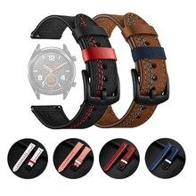 Cinturino 22mm per Huawei Watch GT 2 GT2 Pro cinturino 20mm accessori in pelle bracciale per Samsung Galaxy Watch 46mm 42mm cinturino
