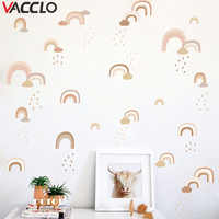 Vacclo Watercolor DIY Rainbow Rain Wall Sticker Living Room Bedroom Children Room Background Wall Self-adhesive Paper Wallpaper