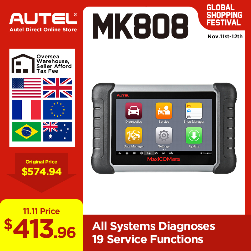 Autel MaxiCOM MK808 OBD2 Scanner Professional Auto Car Diagnostic Scan Tool OBD 2 Code Reader ODB2 Key Coding MX808 MD802 DS808-in Code Readers & Scan Tools from Automobiles & Motorcycles