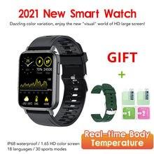 2021 Smart Watch Men 1.65 Inch Blood Pressure Body Temperature Heart Rate Monitor DIY Clock Waterproof Sports Smartwatch Women