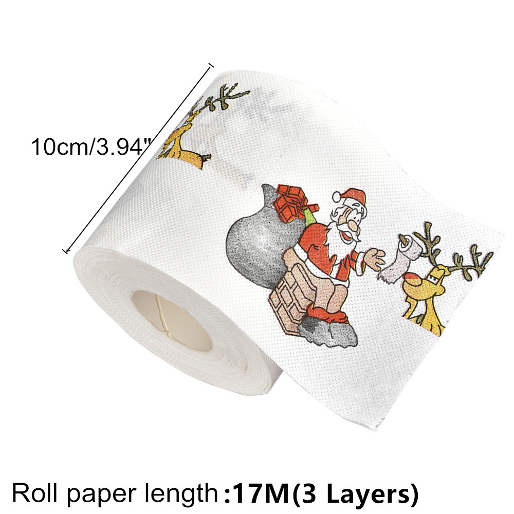 New-Year-Gifts-22m-Roll-Santa-Claus-Reindeer-Christmas-Toilet-Paper-Christmas-Decorations-for-Home-Natale (3)