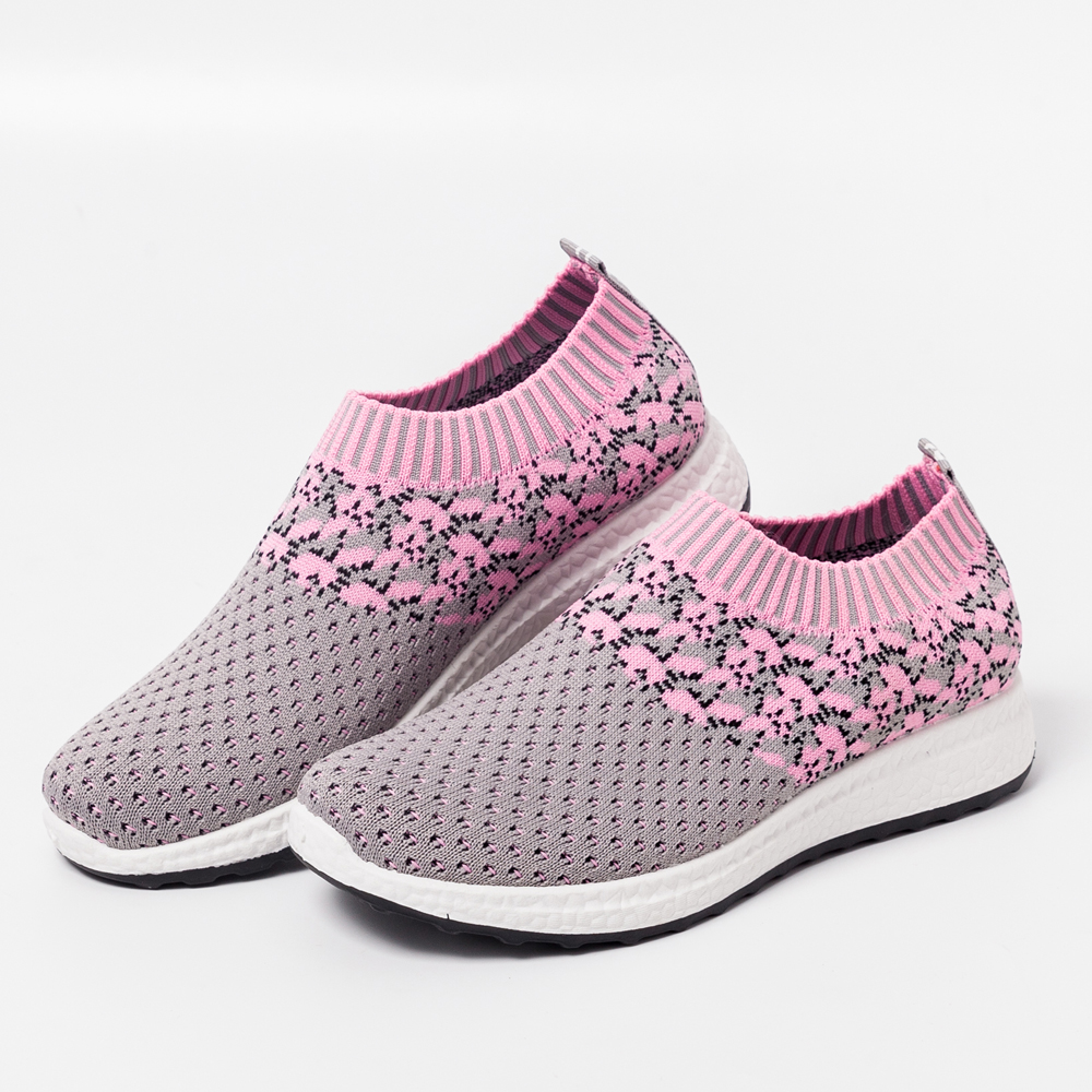 Summer Women's Sneakers Vulcanized Shoes Sock Sneakers Women Slip On Flat Shoes Women Plus Size Loafers Ladies Shoes