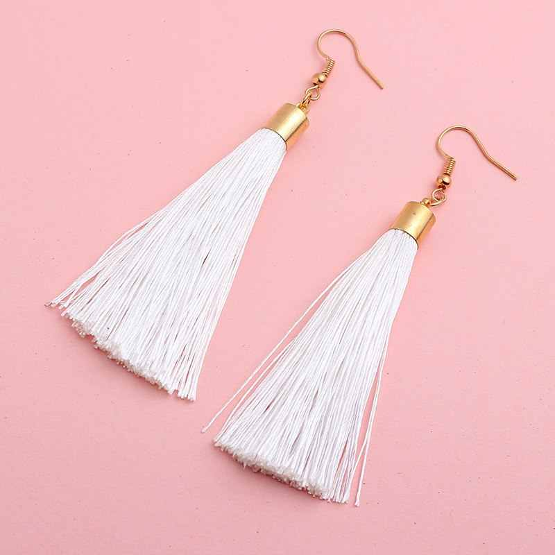 HC bohemia tassel earrings vintage drop dangle pendientes mujer moda 2019 earrings for women earings fashion jewelry oorbellen W