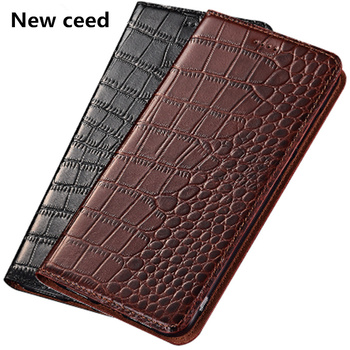 Crocodile pattern genuine leathter phone case for ViVo S6/ViVo S5/ViVo Z6/ViVo Z5/ViVo Z5x/ViVo U3x flip case card holder funda фото
