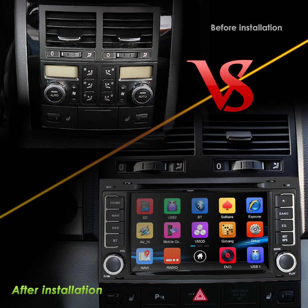 2DIN 車の dvd vw フォルクスワーゲントゥアレグ T5 マルチバンラジオ車の gps ナビゲーションミラーリンク swc rds fm/am bt ゲームサブウーファーヘッドセット dab + カム
