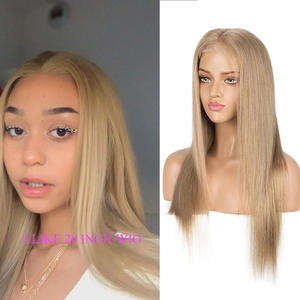 Sleek Wigs Human-Hair Gold Closure Blonde Lace Remy Straight Pre-Plucked 10inch 4X4