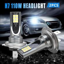2 шт Автомобильные светодиодные лампы h7 110 Вт 6000 лм
