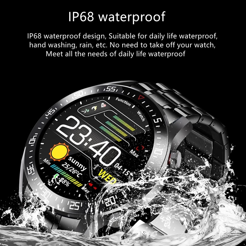 Hfcd0c186233c483ab5bfed06a6f4f3d0c XUESEVEN 2021 HD Full circle touch screen Mens Smart Watches IP68 Waterproof Sports Fitness Watch Fashion Smart Watch for men